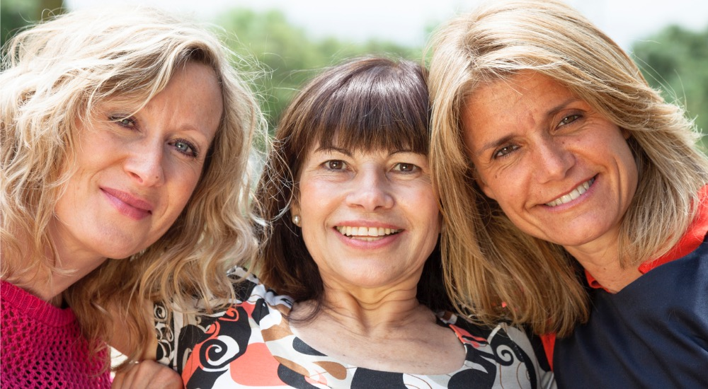 happy healthy women in menopause